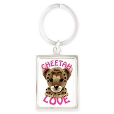 Cheetah-Love Portrait Keychain