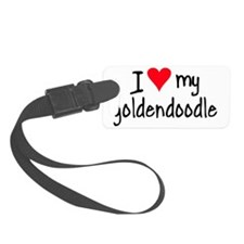 I LOVE MY Goldendoodle Luggage Tag