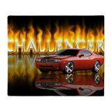 Dodge challenger Fleece Blankets