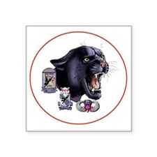 "Panther v2_2nd-505th-White Square Sticker 3"" x 3"""