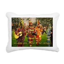 Les Mardi Gras, ca vient Rectangular Canvas Pillow