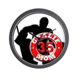hockey Goalie Mom #35 Wall Clock