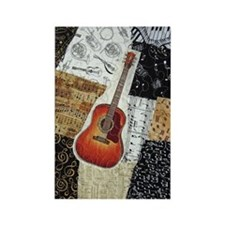 guitar-oval-ornament Rectangle Magnet