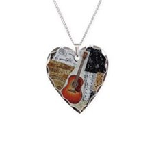 guitar-oval-ornament Necklace Heart Charm