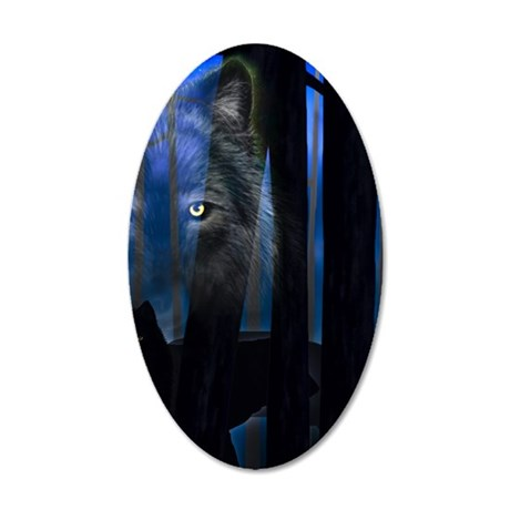 RevWolf WoodsiPad2_Cover 20x12 Oval Wall Decal