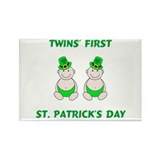 Twins First St. Patricks Day Rectangle Magnet