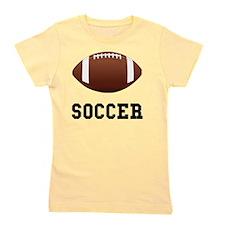 Soccer Football Black Girl's Tee