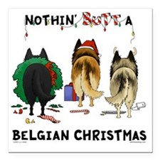 "BelgianShirtLight Square Car Magnet 3"" x 3"""