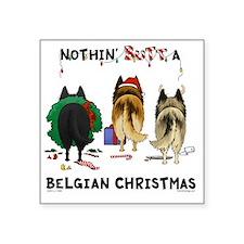 "BelgianShirtLight Square Sticker 3"" x 3"""