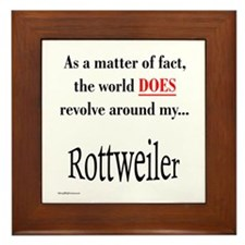 Rottweiler World Framed Tile