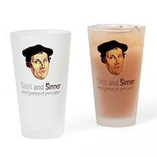 Saint and Sinner Drinking Glass