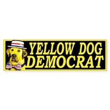 New Yellow Dog Democrat Bumper Bumper Sticker
