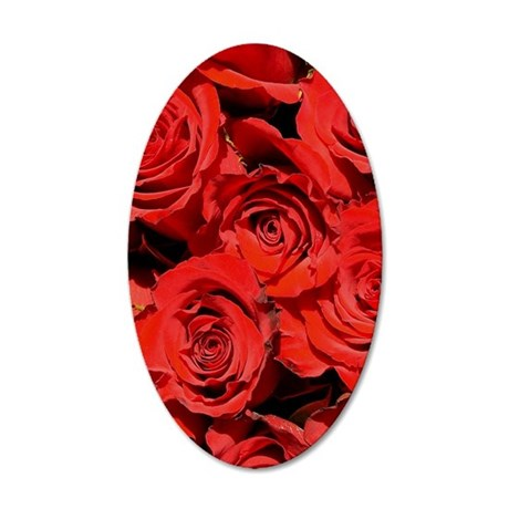 RedRose8X10 35x21 Oval Wall Decal