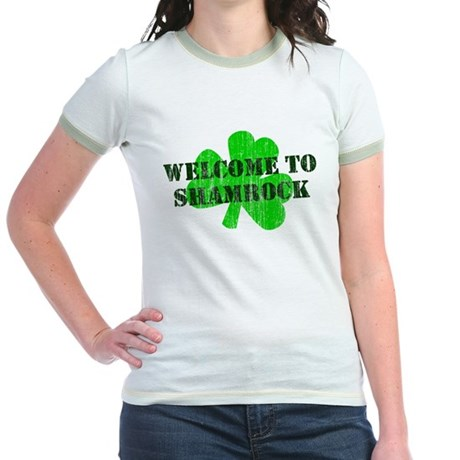 Welcome to Shamrock Jr Ringer T-Shirt