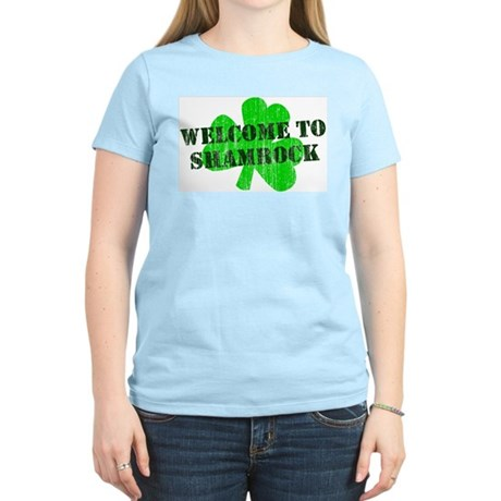Welcome to Shamrock Womens Light T-Shirt
