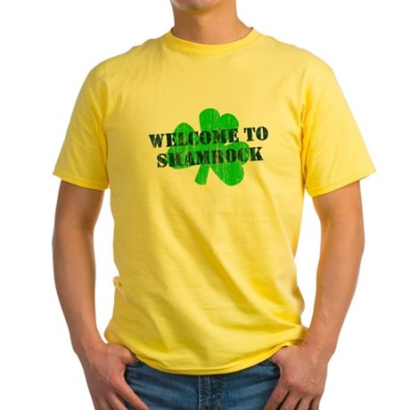 Welcome to Shamrock Yellow T-Shirt