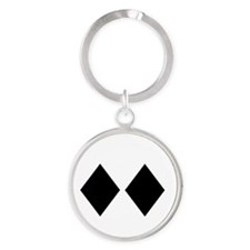 Awesome_Ski_Co_wht Round Keychain