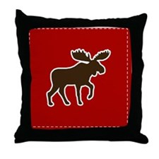 mooseredpillow Throw Pillow