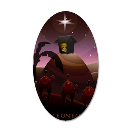 christmas card 2011updated 35x21 Oval Wall Decal