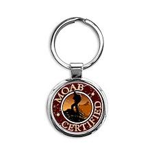 Moab Ceritfied Hiking Round Keychain