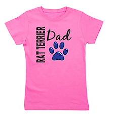 D Rat Terrier Dad 2 Girl's Tee