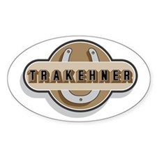 Trakehner Horse Oval Decal