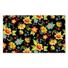Bag Black Spring Floral Decal