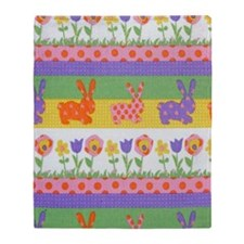 Bunny Flower Throw Blanket