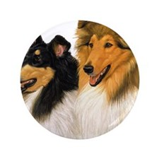 "Rough Collie blanket 3.5"" Button"