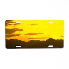 Sunrise Aluminum License Plate