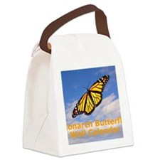 Monarch Butterfly Wall Calendar Canvas Lunch Bag