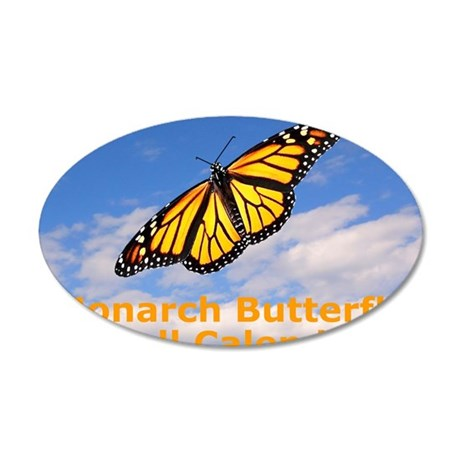 Monarch Butterfly Wall Calen 35x21 Oval Wall Decal