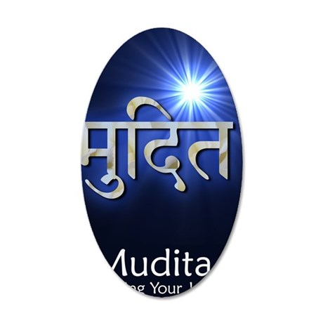 mudita 35x21 Oval Wall Decal