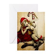 Christmas-Helper-Sexy-11x17_print Greeting Card