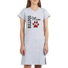 D Bulldog Mom 2 Women's Nightshirt