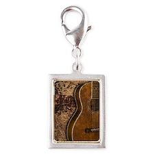 Acoustic guitar journal Silver Portrait Charm