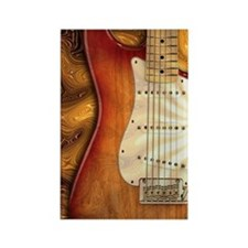 Electric guitar journal -strat- s Rectangle Magnet