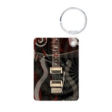 Electric guitar journal Keychains