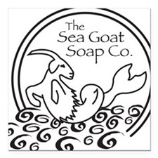 "seagoat Square Car Magnet 3"" x 3"""