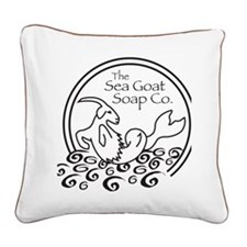 seagoat Square Canvas Pillow