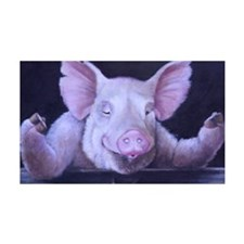 Hey Piggy Pig priny Wall Decal