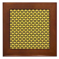 Retro Yellow Beads Framed Tile