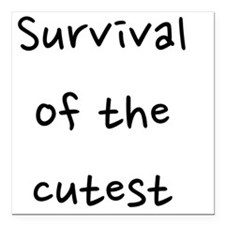 "fixed_survival Square Car Magnet 3"" x 3"""