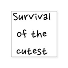 "fixed_survival Square Sticker 3"" x 3"""