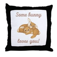 Some Bunny Loves You Throw Pillow