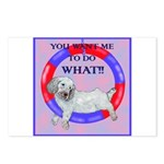 Agility Clumber Spaniel Postcards (Package of 8)