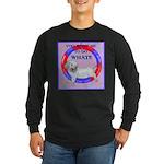 Agility Clumber Spaniel Long Sleeve Dark T-Shirt