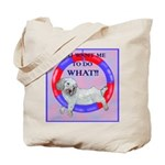 Agility Clumber Spaniel Tote Bag