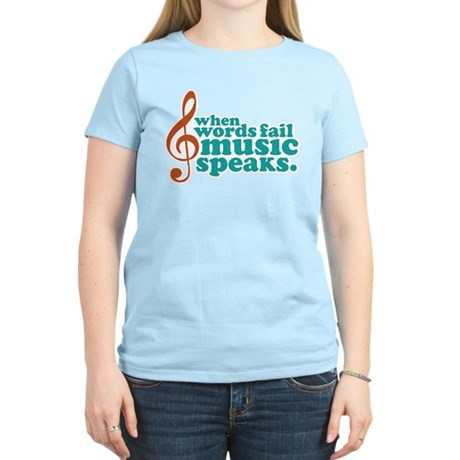 Teal Music Speaks Women's Light T-Shirt