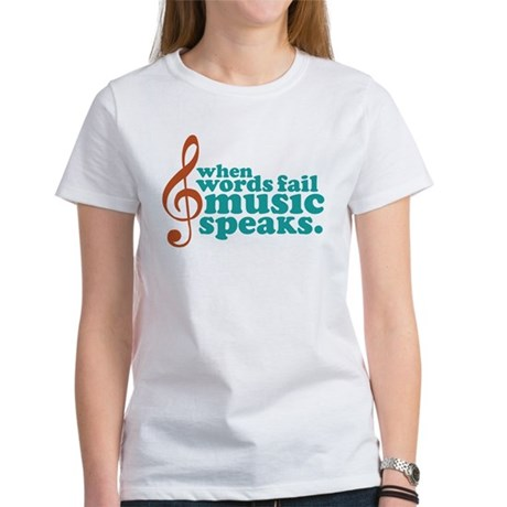 Teal Music Speaks Women's T-Shirt